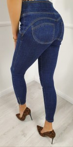 Jeansy push-up ciemny jeans